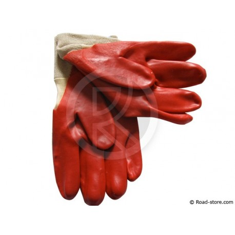 Handschuhe aus PVC Kohlenwasserstoff größe 9