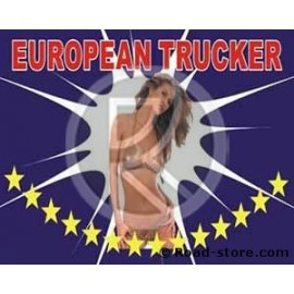 Flag Trucker Pin Up 145 cm x 90 cm