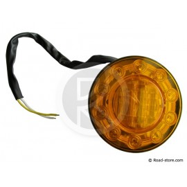 Tail light unviersal 15 leds 24V orange