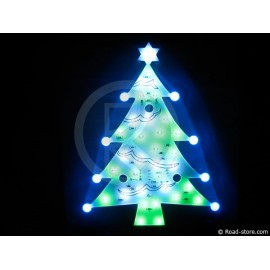 DECORATION SAPIN LUMINEUX CLIGNOTANT A LEDS 12V
