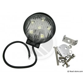 LAMPE DE TRAVAIL AUXILIAIRE RONDE 11,6CM 6 LEDS 18W 12/24V