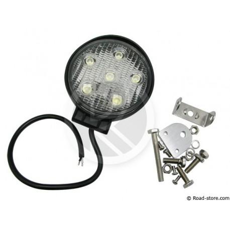 Zusätzliche Arbeitslampe 11,6CM 6 LEDS 18W 12/24V