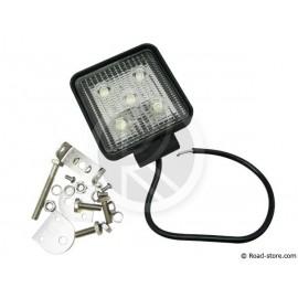 LAMPE DE TRAVAIL AUXILIAIRE CARREE 11CM 5 LEDS 15W 12/24V