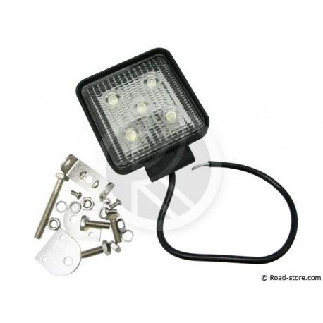Work Lamp Square 11CM 5 LED 15W 12/24V