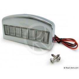 Light for licence plate 12 LEDS 24V Chrome