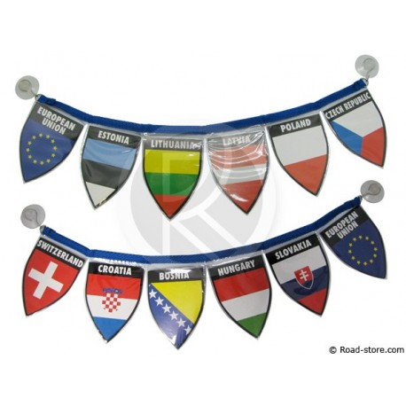 Guirlande du 6 drapeaux / Pays de l'est