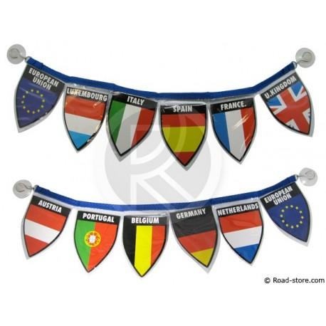 Guirlande 6 drapeaux / Pays de l'ouest