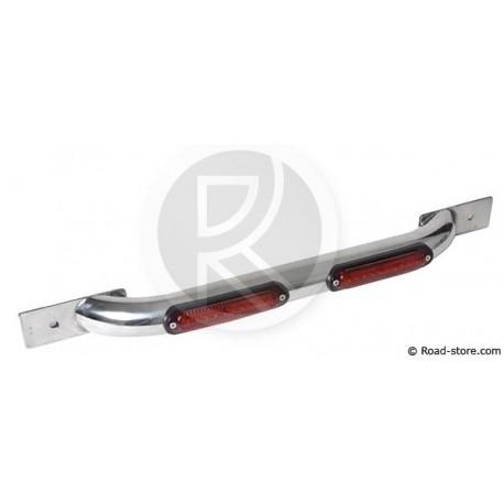 Lysdiodelsite 2 x10 LEDS 70 CM 10-30V - Red (Frontal und Seiten-)