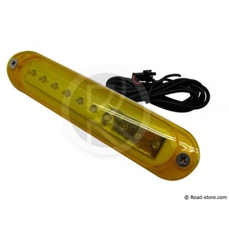Feu 10 LEDS 10-30V orange pour barres de toit et frontale/latérale