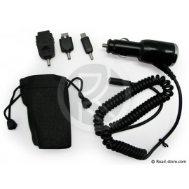 Ladekabel LG Mobiltelefone 3 stecker 12/24V