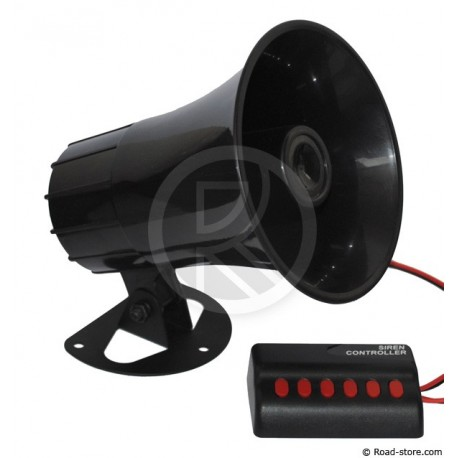 Siren 6 sound 12 Volts DC 30 Watts