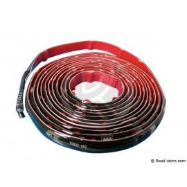 Bande flexible adhésive à leds 24V rouge 2,5M (freins) 24 LEDS