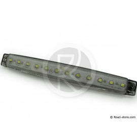 Side clearance lights extra flat 12leds 24V White