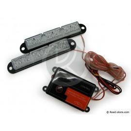 LED strobe light 12/24V - universal - 2 x 6 LEDS - WHITE