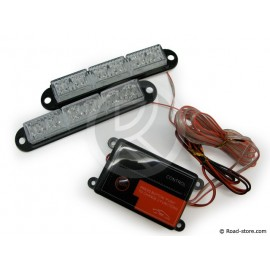 LED-Stroboskoplicht - 12/24V - Universal - 2 x 6 LED - WEIß