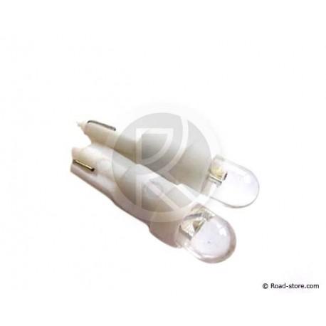 AMPOULE 1 LED WEDGE BASE T5 12 VOLTS BLANCHE X2