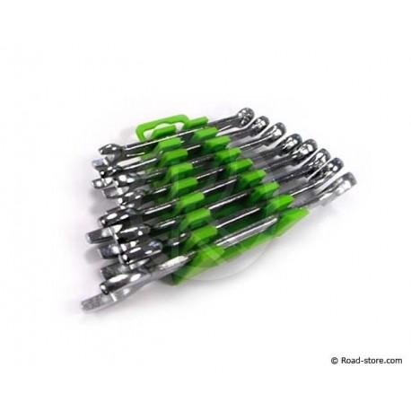 Ring-Maulschlüssel - 8 Stück - 6 bis 19mm