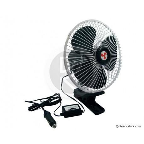 Ventilator mit klemme - 2 Geschwindigkeiten 12V 20 CM