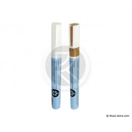 STYLO DE MARQUAGE PNEUS LOT DE 2 : OR + BLANC