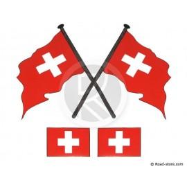 Fahnen 4x Schweiz