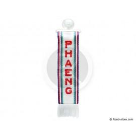 """FANION CABINE A FRANGES """"PHAENG"""" 5 x 22 CM"""