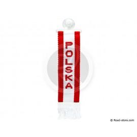 "FANION CABINE A FRANGES ""POLSKA"" 5 x 22 CM"