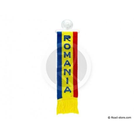 """FANION CABINE A FRANGES """"ROMANIA"""" 5 x 22 CM"""