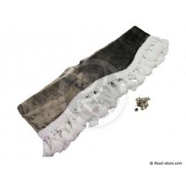 Samt-Fransen für Windschutzscheibe 2,3mx20cm Silbergrau