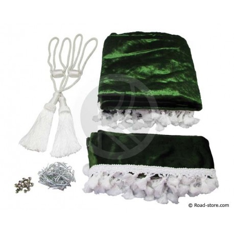 Universal Truck Curtains Set Color : Green Bottle