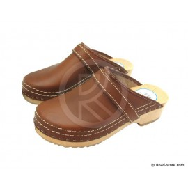 Clog brown leather size 46