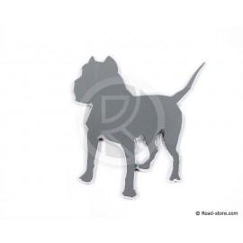 Verchromte Dekoschilder - Bulldog - selbstklebend - 3D