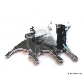 Decoration adhesive corrida bull chrom x1 piece
