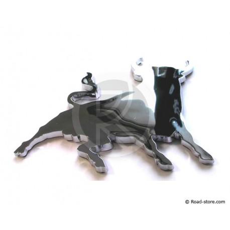 Verchromte Dekoschilder - Corridastier - selbstklebend - 3D