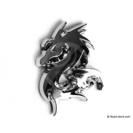 Verchromte 3D-Aufkleber Imperial Dragon