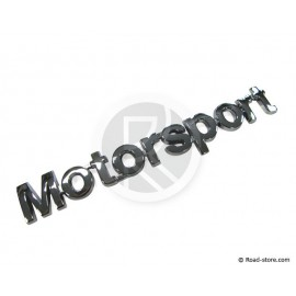 "DECORATION ""MOTORSPORT"" ADHESIF CHROME  14 CM"