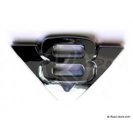Verchromte 3D-Aufkleber V8