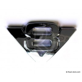 "DECORATION ""V8"" ADH CHROME X 1 PIECE"
