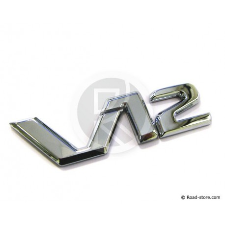 Verchromte Dekoschilder - V12 - selbstklebend - 3D