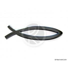 Verchromte Dekoschilder - Fisch - selbstklebend - 3D