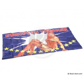 "DRAPEAU FOND DE CABINE ""PIN UP"""