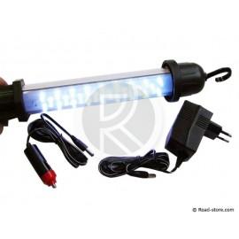Inspektionslampe 27 LEDs 12V/230V - aufladbar