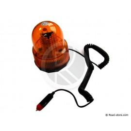 Rundumkennleuchte mit Magnetsockel 24V 90 LED