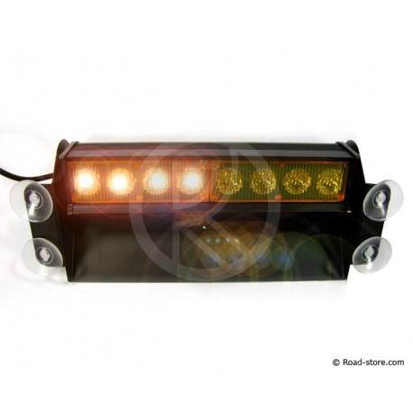 Warnlampe 8 LEDS 24V 3 positionen