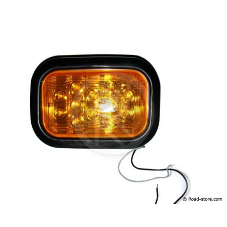 FEU ARRIERE 12 LEDS 10-30V 11X16 CM ORANGE