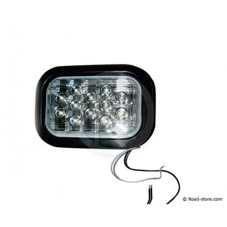 FEU ARRIERE 12 LEDS 10-30V 11X16 CM BLANC