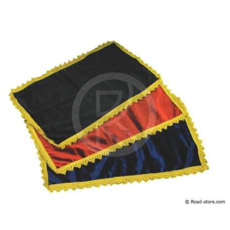 Teppich Armaturenbrett 59 x 21 cm Blau/Gold