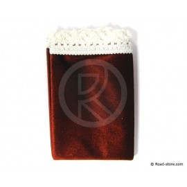 Teppich Armaturenbrett 59 x 21 cm Rot/Weiß