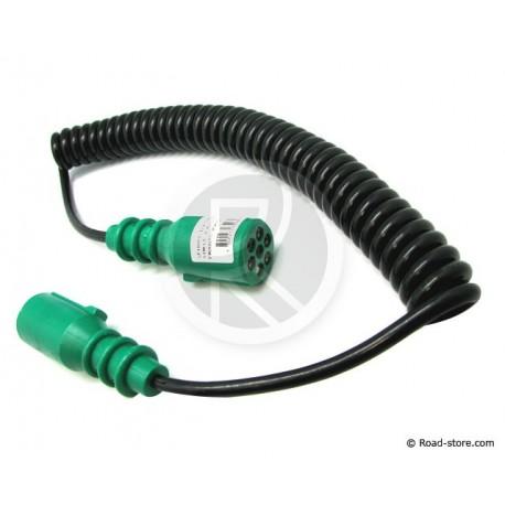 Einfache elektrische Spirale 7 grafische Darstellungen grüne End