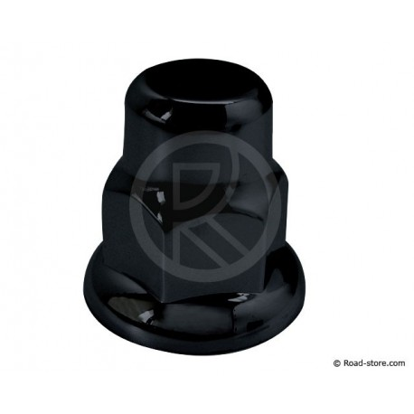 10 Black truck nut caps 33mm Renault Scania & Volvo