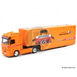 Scale model 1/43e mercedes repsol honda truck